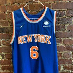 Nine NBA NY Knicks #6 Porzingis Jersey Size L